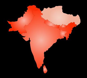 mapka Indii Szerokopojętych
