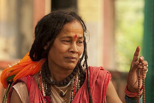 Indyjska kobieta sadhu (sadhvi)