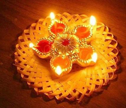 lampki na cześć bogini Lakszmi